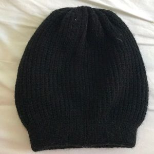 Chunky black beanie hat from free People
